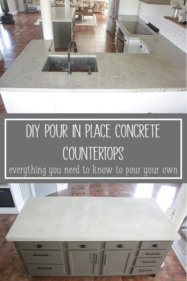 DIY Concrete Countertops – Pour in Place in 2020 | Diy ...