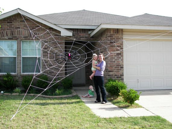 25 Ft Giant Spider Web Halloween House Prop Does Not Glow Under