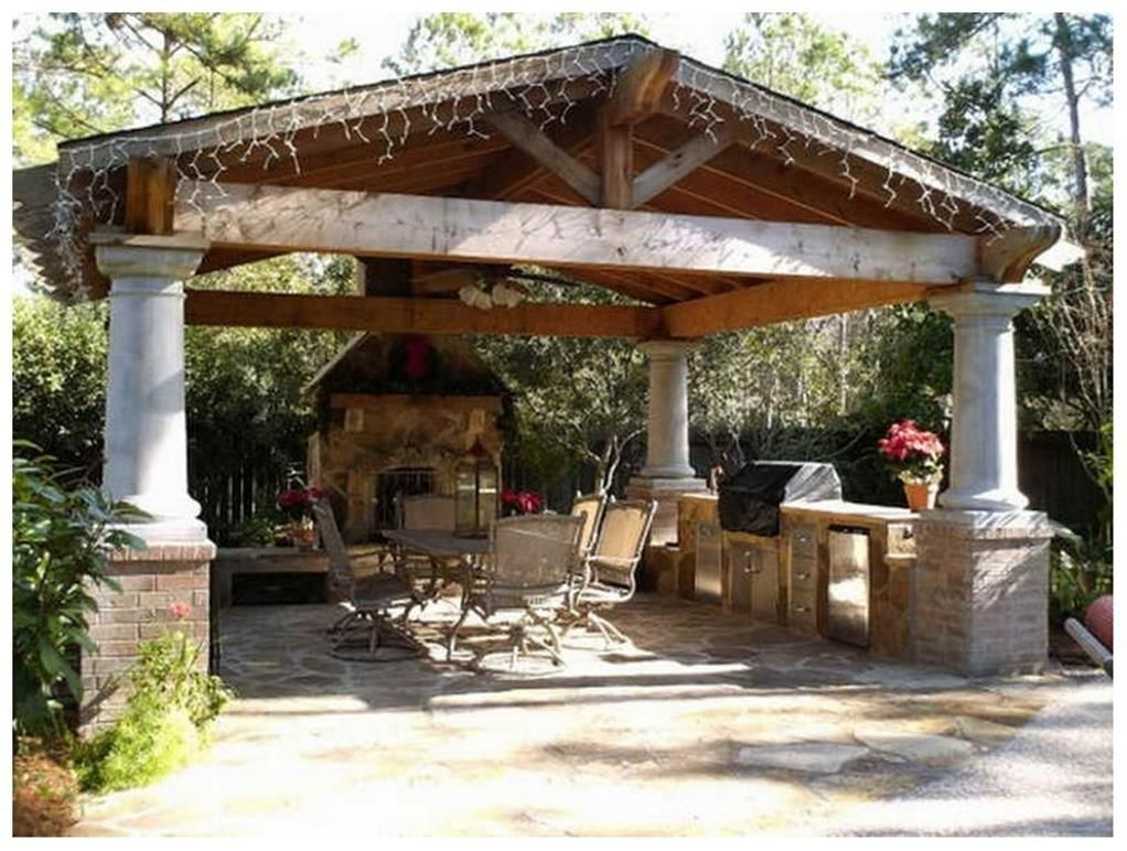 Outdoor Patio Designs On a Budget 19   Outdoor pavilion ...