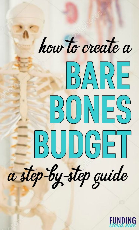 How to Create a Bare Bones Budget (+ Free Worksheet)   Bare bone ...