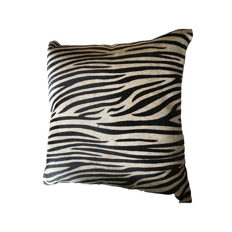 Zebra Print Cowhide Throw Pillow Pillows Throw Pillows Cowhide