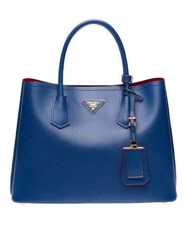 Loving this Blue & Red Safiano Small Handbag on #zulily! #zulilyfinds