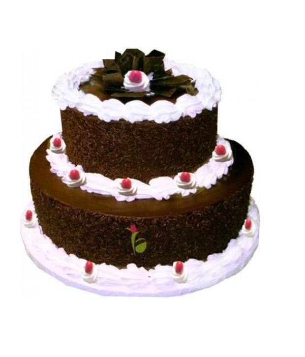 2 Tier Black Forest Cake 5 Pound