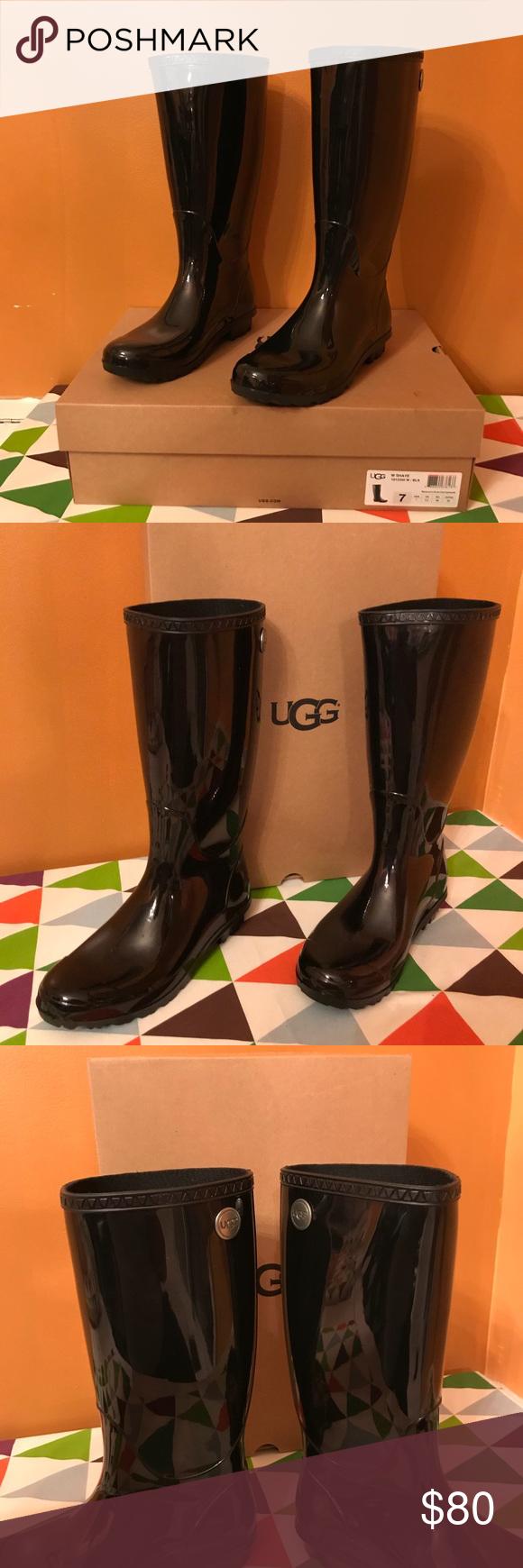 Ugg shaye tall rainboots black size 7 store demo