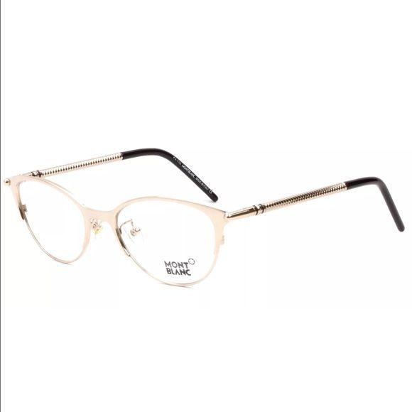 MONTBLANC MB 0438 Gold Eyeglasses Metal Frame
