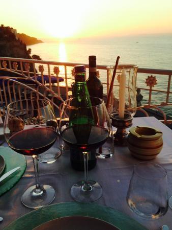 "At ""La Pergola"" at the Hotel Bellevue Syrene enjoy the"