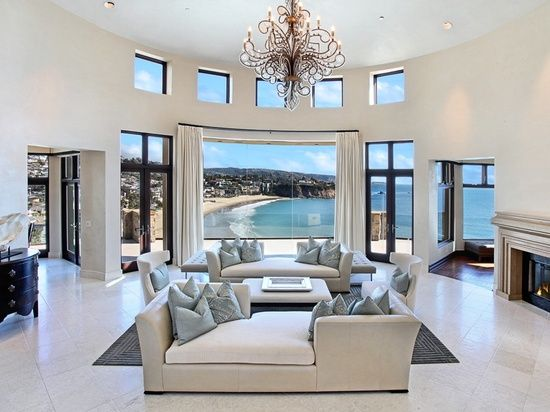 Orange County California Ocean View Living Room With Images