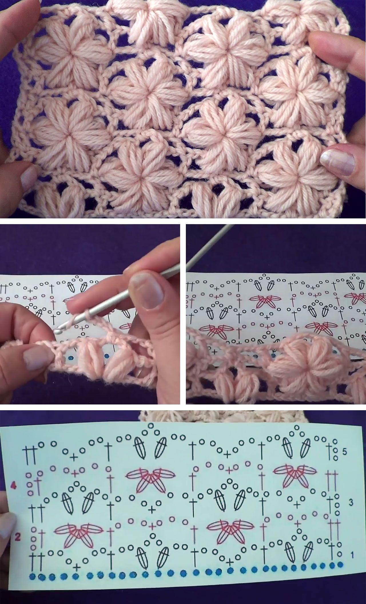 Photo of Learn Making The Crochet Star Stitch | CrochetBeja