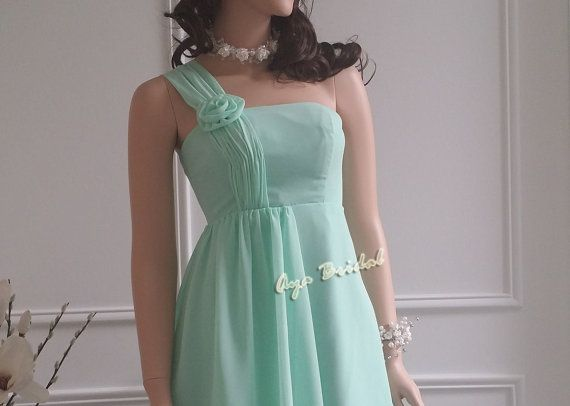 Hey, I found this really awesome Etsy listing at https://www.etsy.com/listing/151932894/one-shoulder-flower-bridesmaid-dress