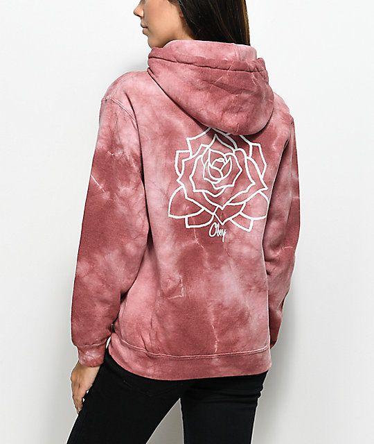 91ef42345f7d4 Obey Mira Rosa Dusty Rose Tie Dye Hoodie