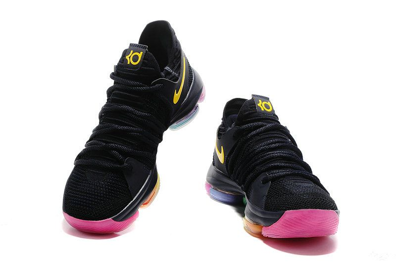 8f5c15dedb8f Cheapest And Latest Newest And Cheapest Nike Zoom KD 10 X Black Rainbow  Multi Color