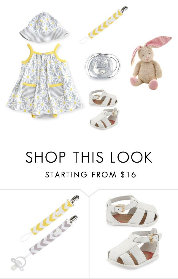 """""""Sin título #3056"""" by alejaborrayo on Polyvore featuring Burberry, Baby, girl, fourth y months"""