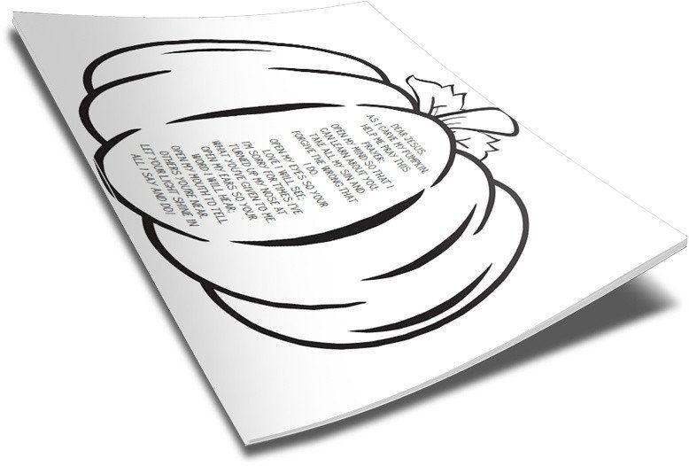 Pumpkin Prayer Coloring Page Coloring Pages Free Bible Coloring