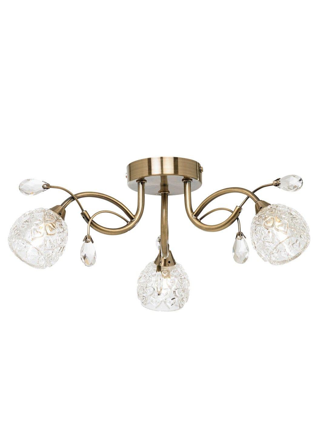 Darroch 3 light ceiling light antique brass kitchens pinterest darroch 3 light ceiling light antique brass mozeypictures Gallery
