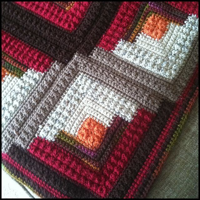 Ravelry: Project Gallery for Log Cabin Comfort Throw pattern by Red ...