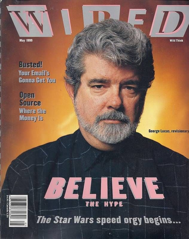 Wired magazine George Lucas Star Wars Email Universal Theme Park ...