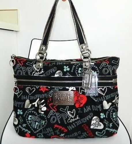 df726a5c01ac Very Rare! COACH POPPY GRAFFITI GLAM 16052. Starting at  168 on Tophatter .com!