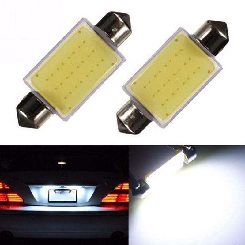 2016 New Festoon Cob 31mm 36mm 39mm 3w Car Cob Chips Led Bulbs Interior Dome Festoon Lights White 12v 1piec Car Led Lights Car Lights Led Festoon Lighting