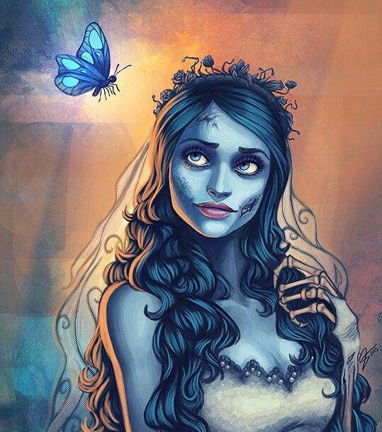 Emily Corpse Bride Butterfly Tattoo