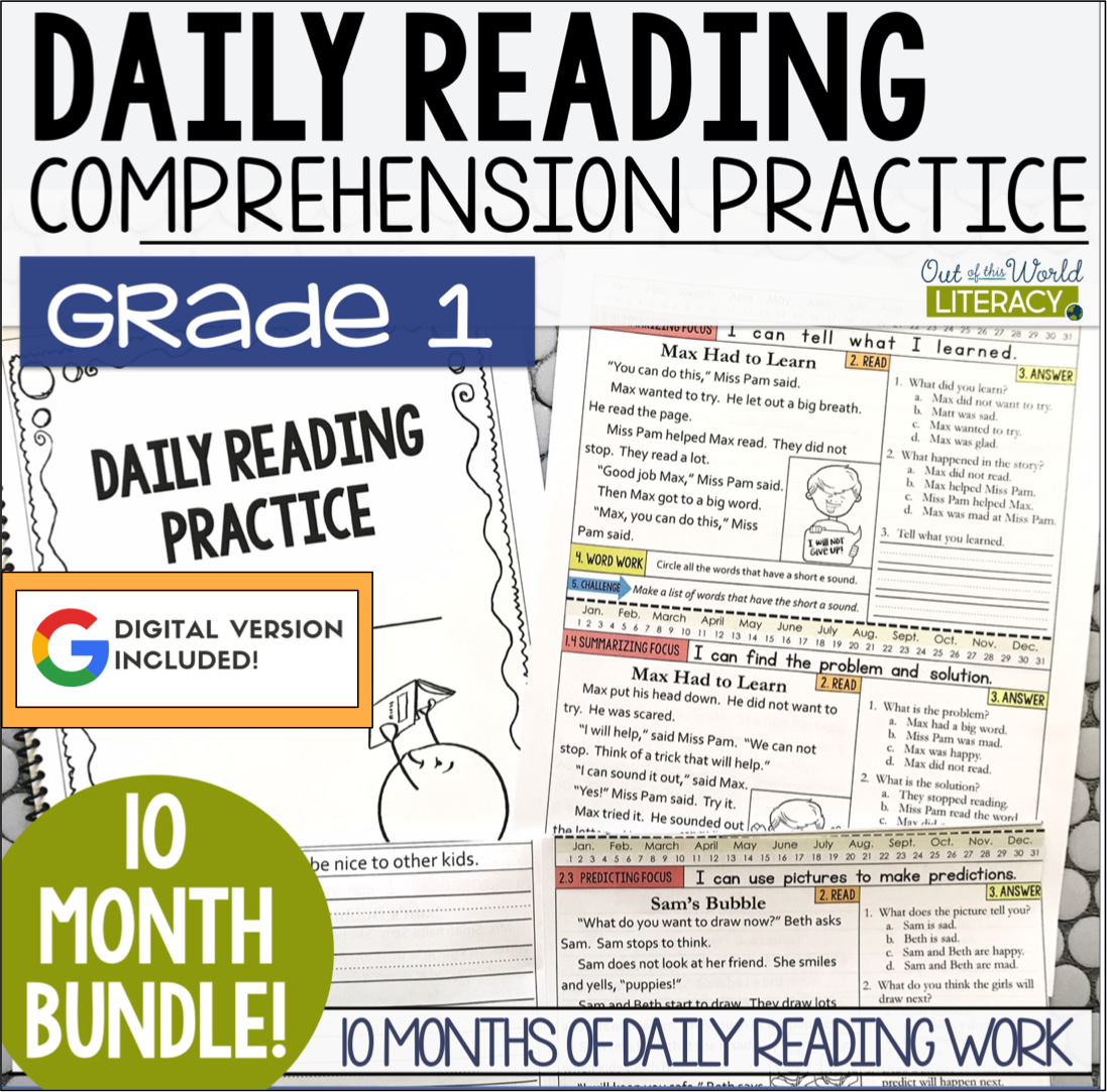 Daily Reading Morning Work Grade 1 Bundle