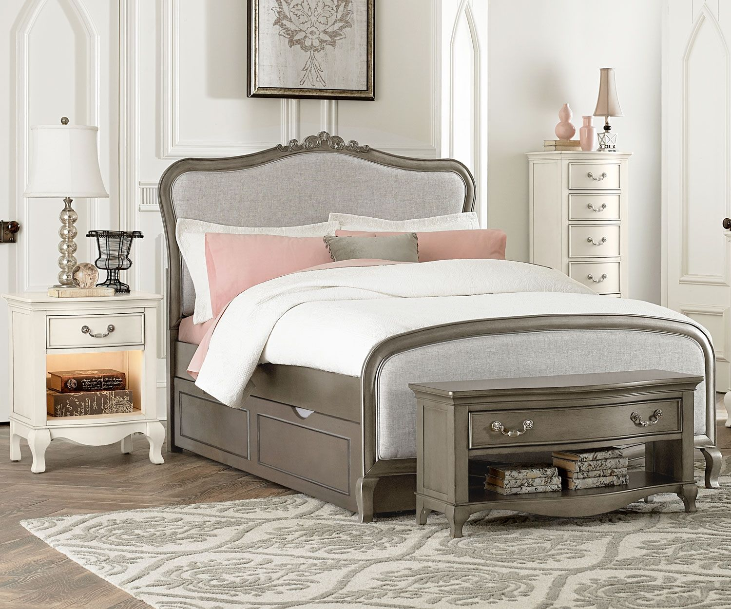 NE Kids Kensington Collection Katherine Upholstered Bed ...