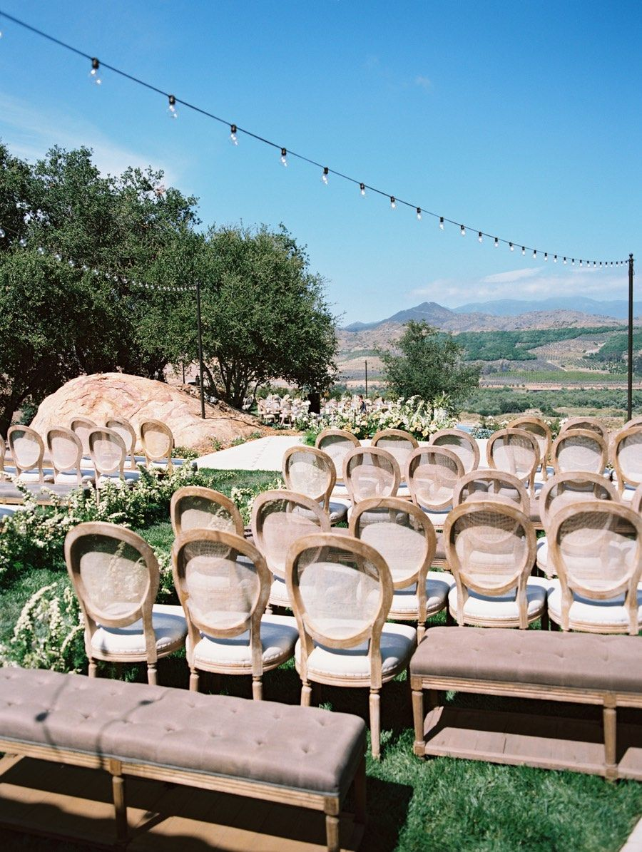 Elegant Outdoor San Diego Wedding with Warm Summer Colors ...