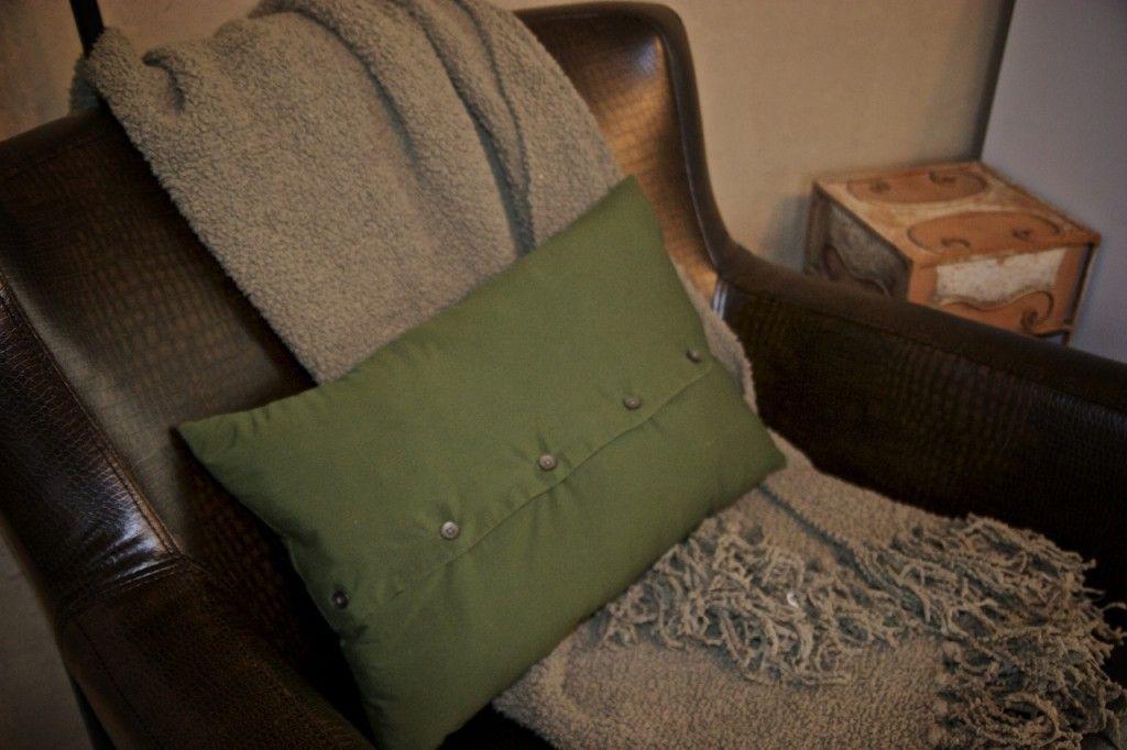 Pillow Made From Mens Dress Shirt Pillow Tutorial