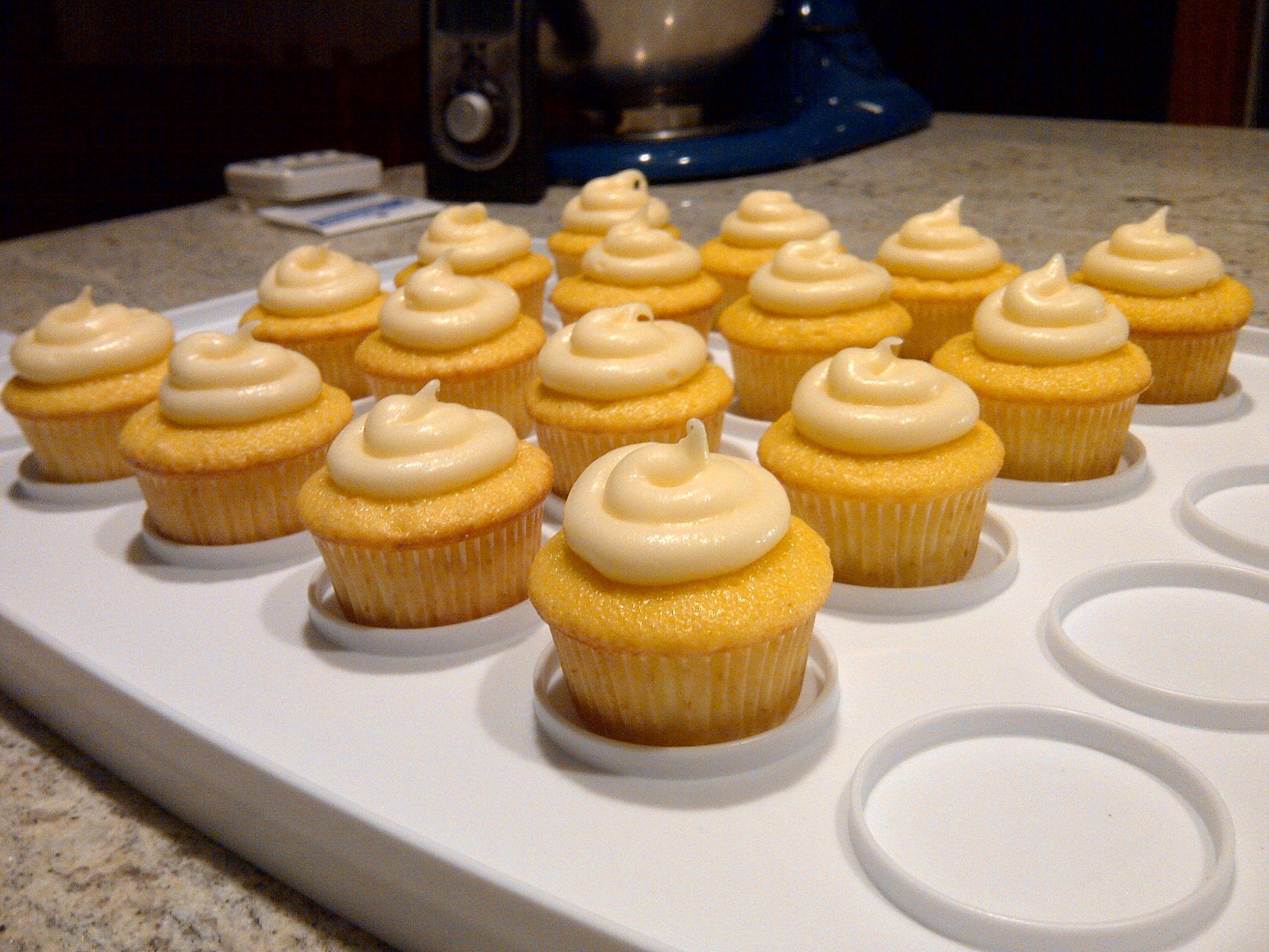 Lemon Cupcakes w/ Lemon-infused Cream Cheese Frosting