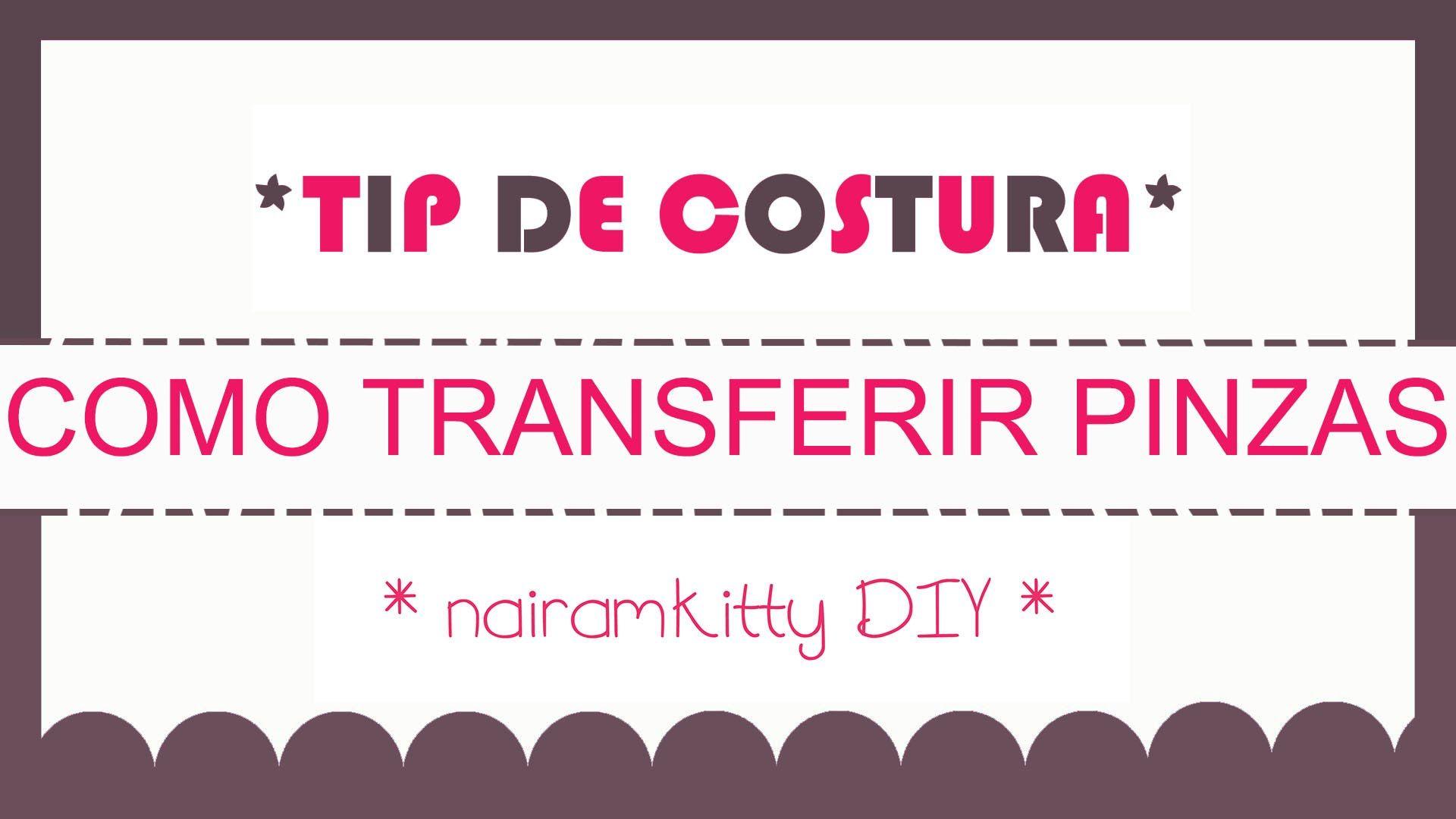 COMO TRANSFERIR PINZAS DEL PATRÓN A LA TELA. TIP DE COSTURA | TIP DE ...
