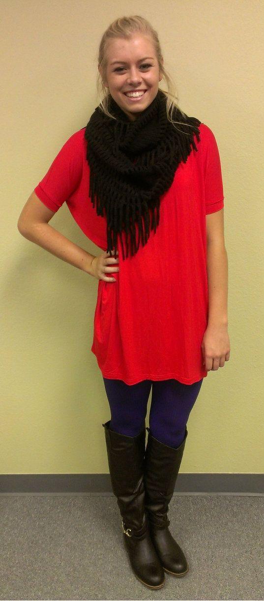 Kiki La'Rue - Piko Tunic/Dress - Short Sleeve - Red, $37.99 (http://www.kikilarue.com/piko-tunic-dress-short-sleeve-red/)
