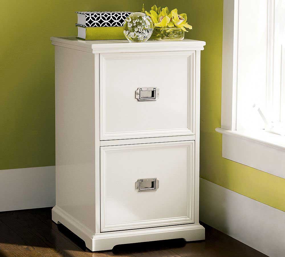 White Two Drawers File Cabinet Google Search