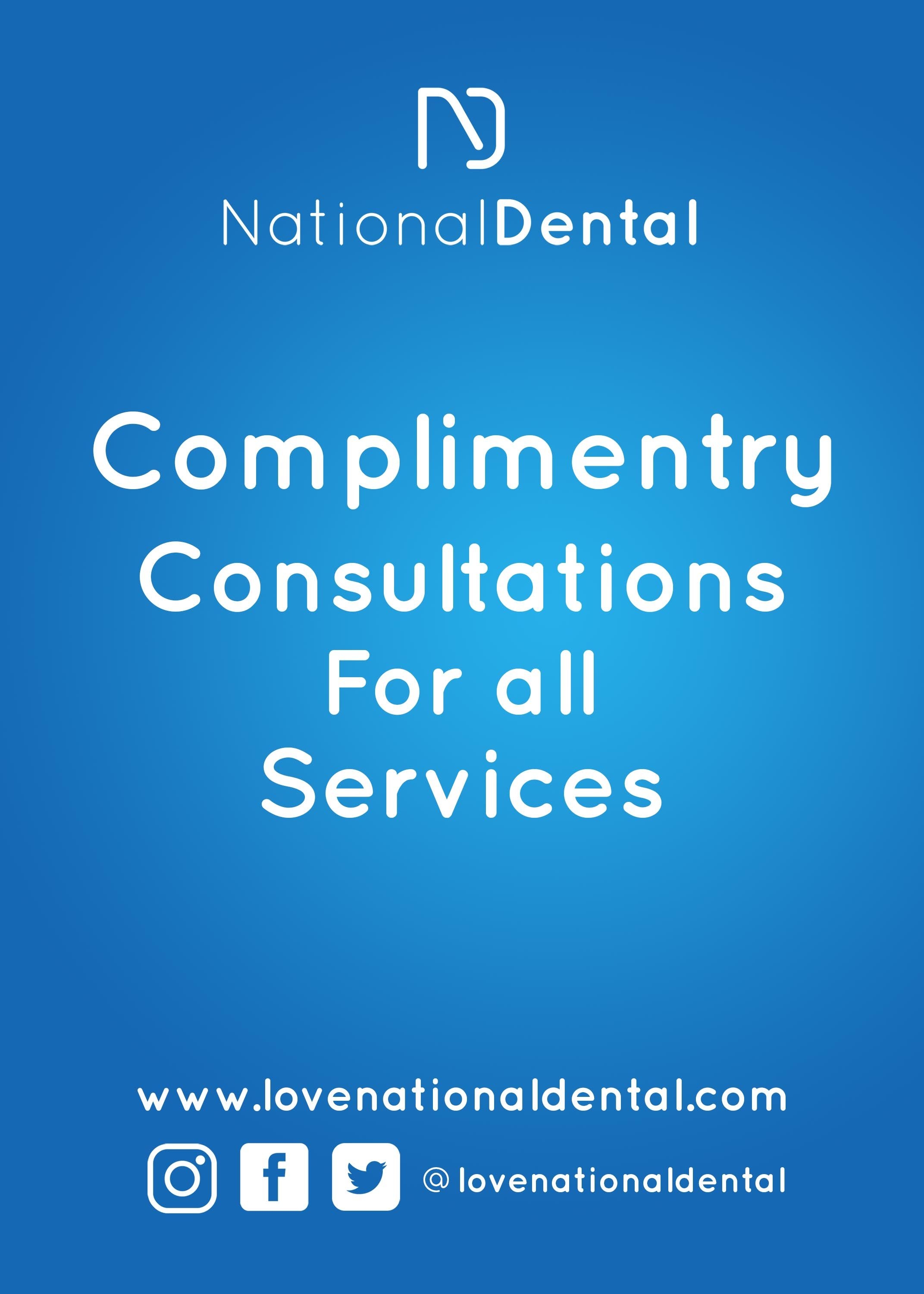 We provide Complimentary Consultations for all services at