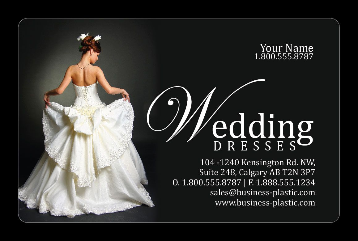 Bridal Wear Industry Business Card. Let Potential