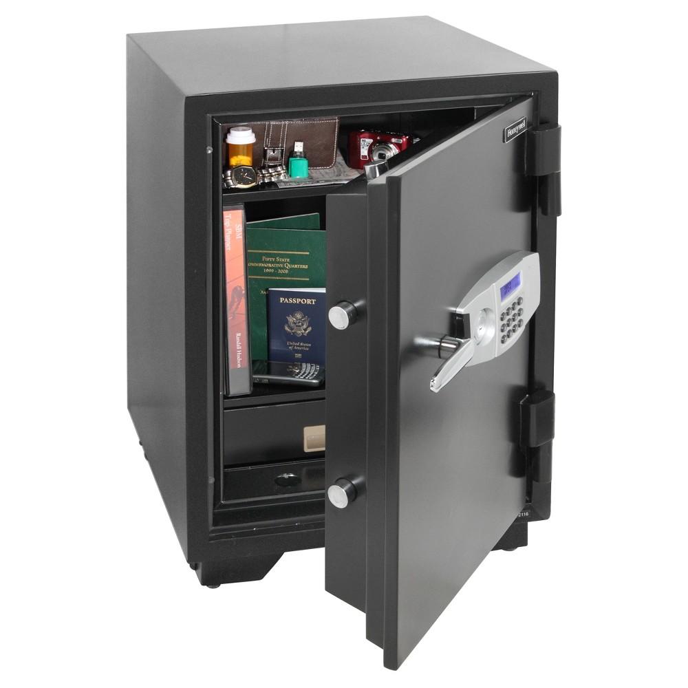 Honeywell 2.35 cu ft/Water Resistant 1 Hr. Fire & Theft Safe, Black