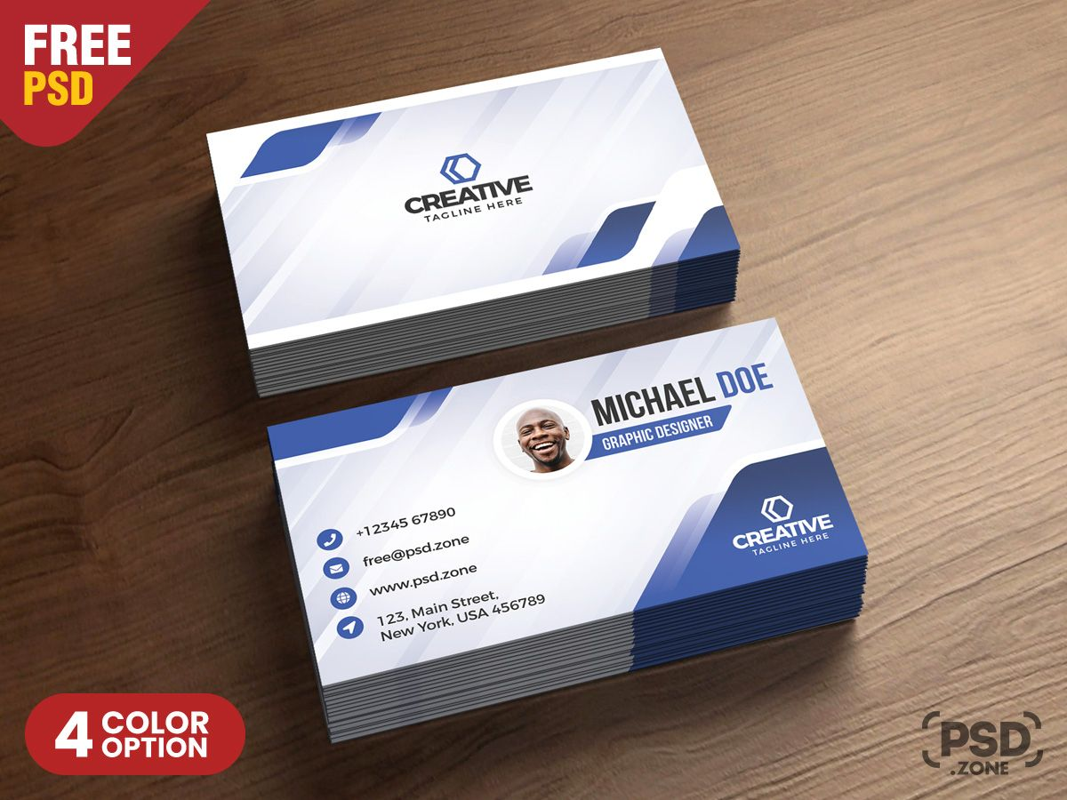 Modern Business Cards Design Psd Psd Zone In Modern Business Card Design Tem Free Printable Business Cards Modern Business Cards Free Business Card Templates