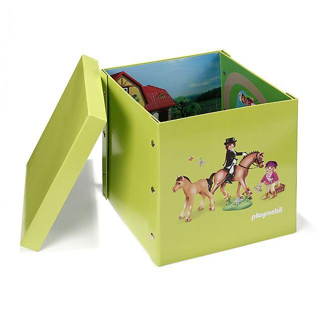 playmobil boite carr e 2 en 1 motif playmobil salle de jeux playmobil. Black Bedroom Furniture Sets. Home Design Ideas
