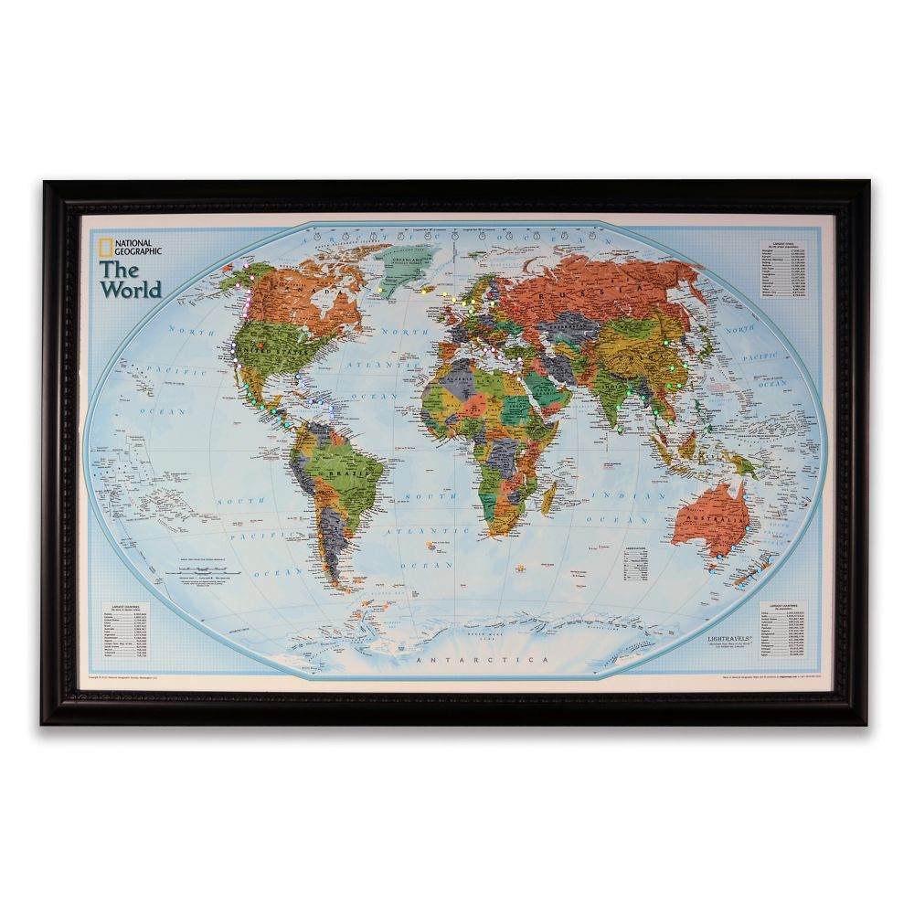 World Map Store.National Geographic Light Your Way Customizable World Map