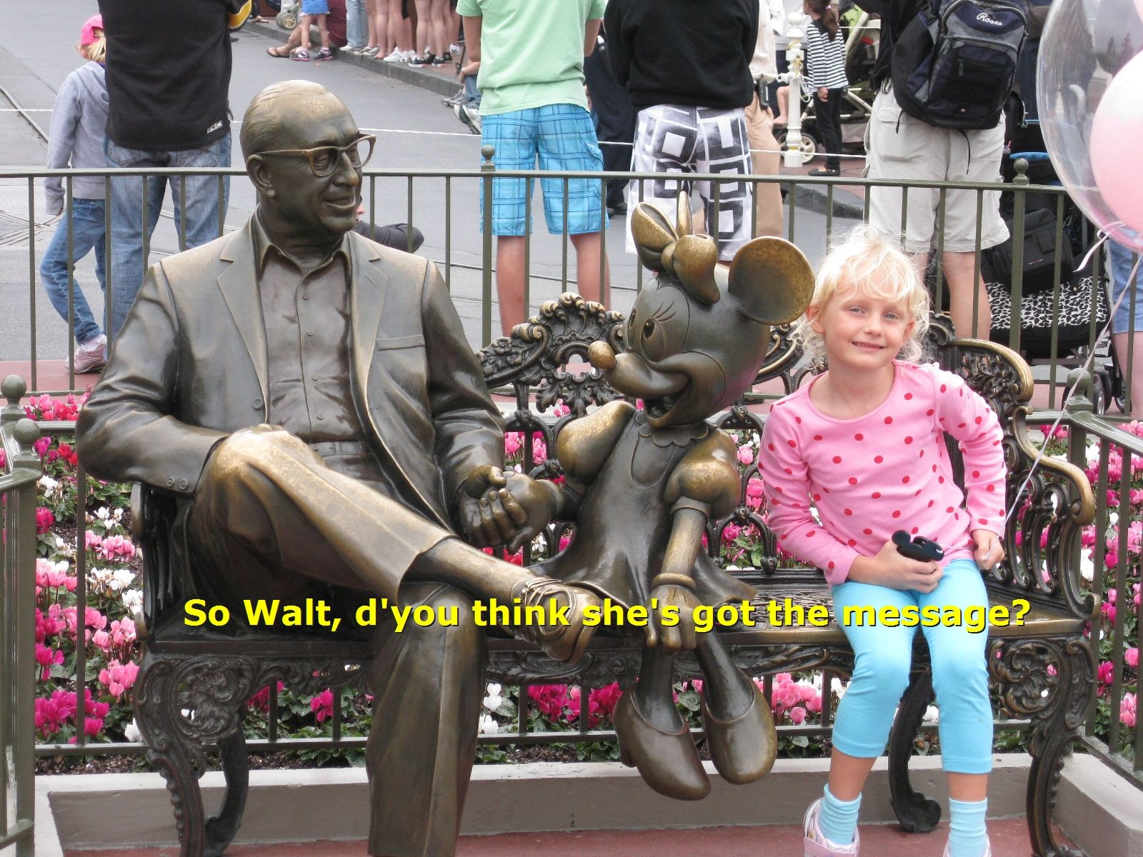 Minnie asking Walt Disney a question about  getting on down to The Solid Bar Company for Christmas Gifts!