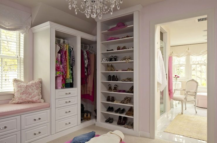 Martha Ou0027Hara Interiors: Glamorous Walk In Closet With Sogt Pink Paint Color