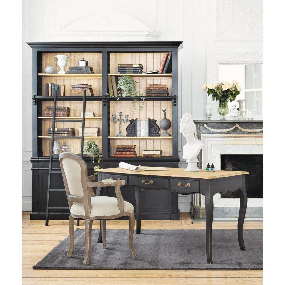 Bureau En Manguier L 145 Cm Versailles Style Classique Maison De Maitre Louis Xvi Maisons Du Monde Maison Du Monde Meuble Living Relooker Meuble