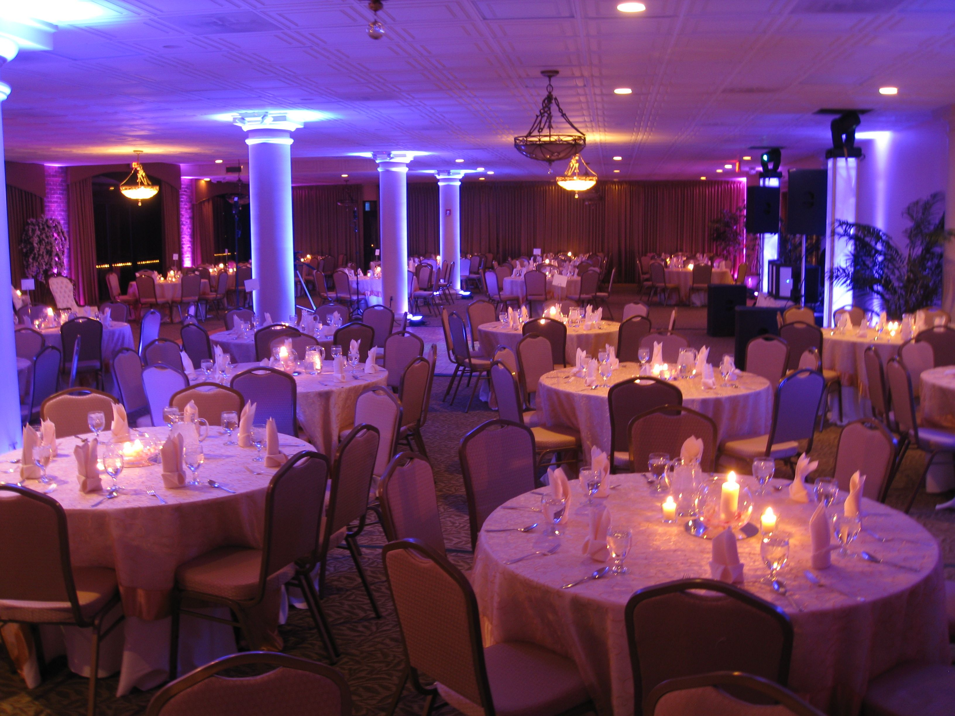 Sewell's point ballroom uplighting! harbour view woodbridge va