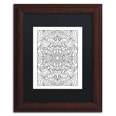 """Trademark Art 'Glimmering Hope' by Kathy G. Ahrens Framed Graphic Art Size: 14"""" H x 11"""" W x 0.5"""" D, Matte Color: Black"""