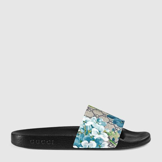 64620132daeb Gucci GG Blooms sandal Fancy Shoes, Cute Shoes, Gucci Slides Women, Sneaker  Heels