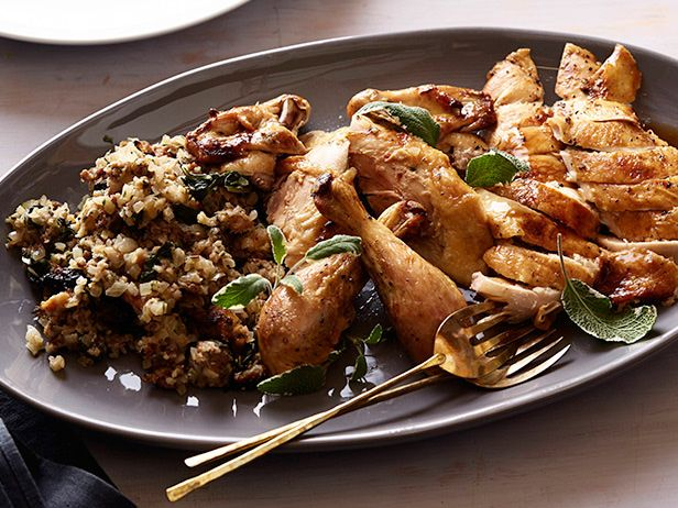 Roast chicken with green herb stuffing receta forumfinder Image collections
