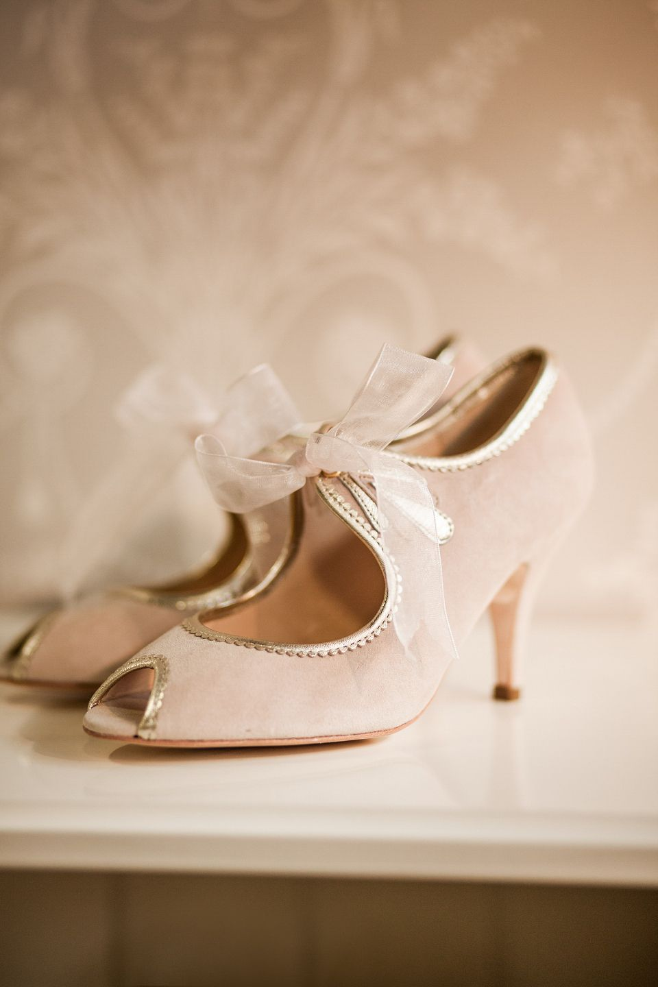 Girls wedding dress shoes  The White Gallery   Blush heels Dress shoes and Wedding dress