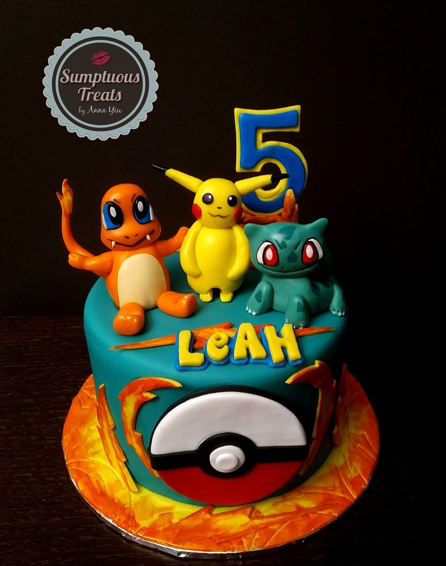 Pokemon 5th Birthday Cake CustomMadeToOrder Cakes Edible Art