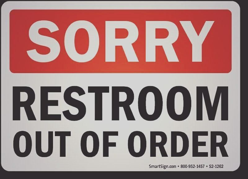 Pin By Ashino Francis On Out Of Order Sign Out Of Order Sign Signs Washroom