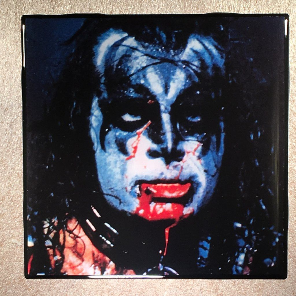 Kiss Alive Ii Coaster Gene Simmons Back Record Cover Ceramic Tile