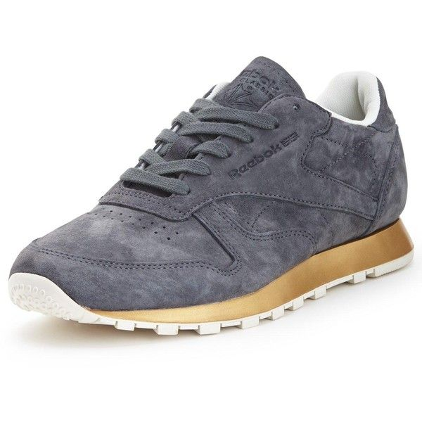 Reebok Classic Leather New Metal Trainers (1,565 MXN) ❤ liked on Polyvore  featuring shoes
