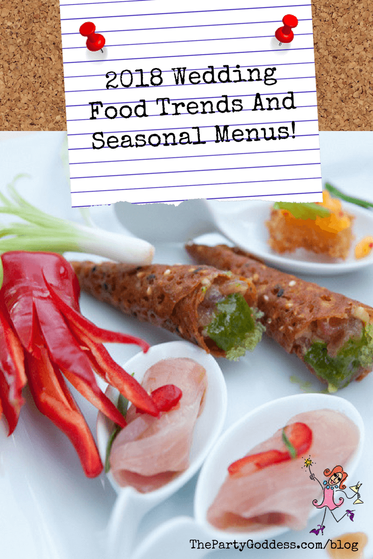 Wedding food trends for 2018 with ideas from the 2018
